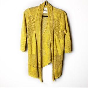 Angel of the North Mustard Yellow Cardigan